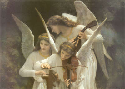 Angels Playing Violin William-Adolphe Bouguereau
